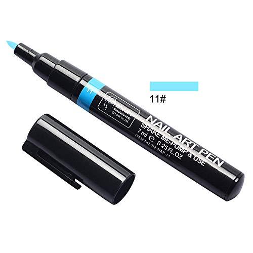 Berrose 3D Manicure Gemalter Stift Nagel Malerei Lack Schritt eins Einfach zu verwendendes UV-Gel Gear 3-in-1 Instrument