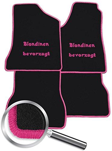 Preisvergleich Produktbild Passende Bedruckte Auto Fußmatten Blondinen bevorzugt - Wunschfarbe angeben - Fahrzeugtyp in der Artikelbeschreibung beachten!