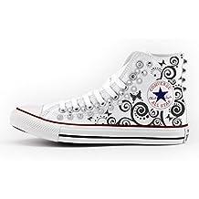 42 Converse Chuck Taylor ALL STAR DISTRESSED HI 158962c Scarpe Chucks BORCHIE NUOVO