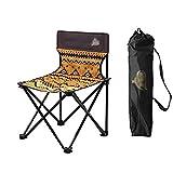 ZDY Klappstuhl Outdoor Klappstuhl Tragbare Rückenlehne Hocker Malerei Skizze Stuhl Freizeit Angeln Stuhl Camping Picknick Grill Stuhl (Farbe : Orange, größe : S)