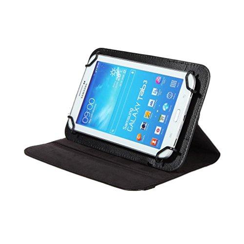 Preisvergleich Produktbild BRALEXX Universal Rotation Tasche passend für Dell Venue7 Tablet-PC der Serie3000, 7 Zoll, Schwarz