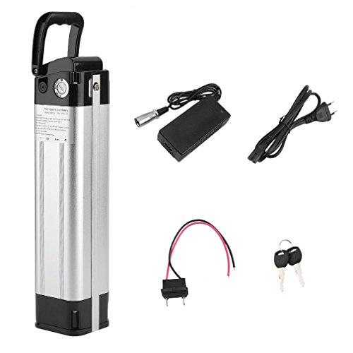 Dpower Bicicleta Eléctrica, E-Bike Pedelec Batería, Bicicleta Eléctrica para Batería de Iones de Litio 24 V con Laptop-Power para Sistemas...