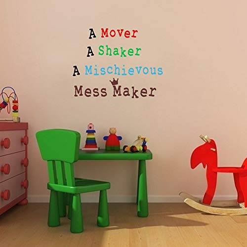 nderzimmer Zitate Wandaufkleber Chaos Maker Vinyl Kunst Aufkleber für Jungen Mädchen Zimmer 46 * 60 cm ()