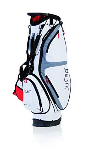 JuCad Bag Fly I Golfbag I 2in1 I Cardback I Tragebag I Golfbag I Schirmhalter I Farbe weiß-Rot