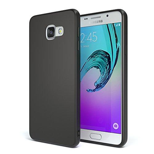 EAZY CASE Handyhülle Silikon mit Kameraschutz Samsung Galaxy A3 (2016) in schwarz matt, Ultra dünn, Slimcover, Silikonhülle, Hülle, Softcase, Backcover