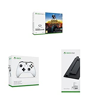 Xbox One - Consola 1 TB + PUBG + Mando Inalámbrico, Color Blanco (Xbox One) Bluetooth + Soporte vertical para consola Xbox One S (negro) (B07CXD5PF3) | Amazon price tracker / tracking, Amazon price history charts, Amazon price watches, Amazon price drop alerts