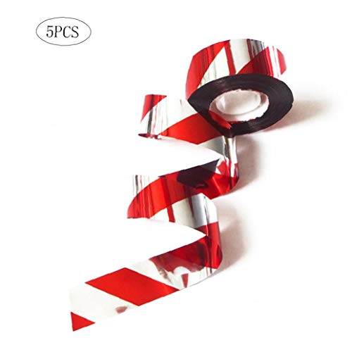 5Pcs Praktische Vogelabschreckungs Band Double Side Reflective Rote Faden Flash-Band Convenient Vogel Scare-Tape -