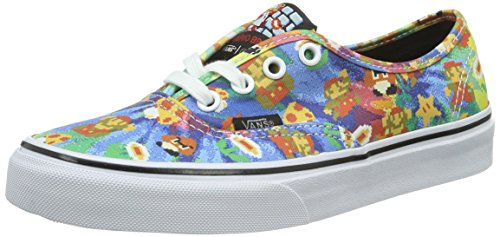 Vans Unisex-Erwachsene Authentic Low-Top, Mehrfarbig ((Nintendo) Super Mario Bros/Tie-Dye), 42.5 EU