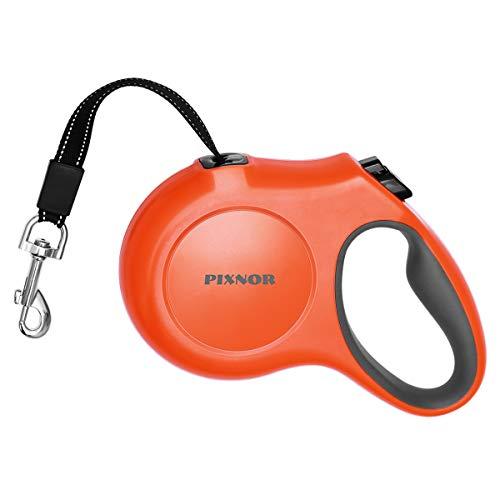 PIXNOR Hundeleine Roll-Leine Design Einziehbar 5M für Hunde bis max. 50 kg (Größe L & Orange)