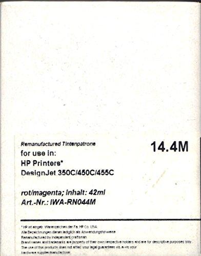 Remanufactured Tintenpatrone basierend auf HP 44M 51644M magenta, 42ml, kompatibel - IWA-RN044M -
