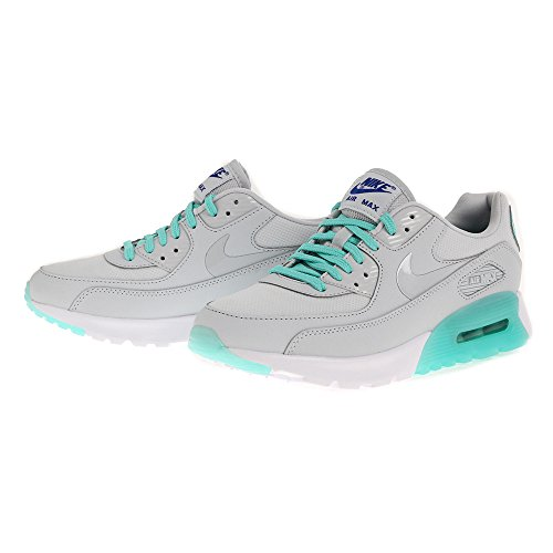 Nike W Air Max 90 Ultra Essential, Baskets Femme pure platinum hyper turquoise 006