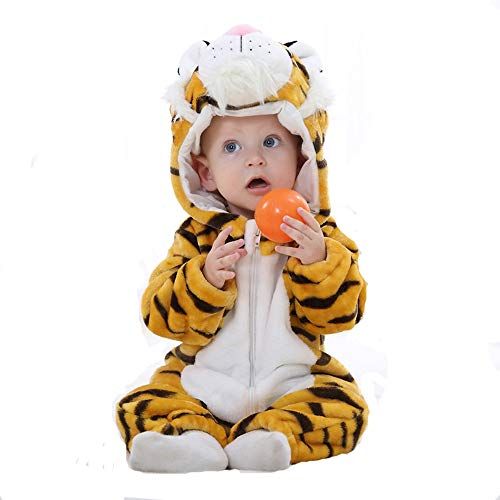 ZMH Baby Romper Baby Boys Girls Jumpsuit Newborn Clothing Hooded Toddler Baby Clothes Cute Tiger Romper Baby - Cute Toddler Girl Kostüm