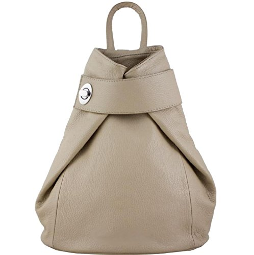 Zaino Donna in vera pelle made in Italy Taupe