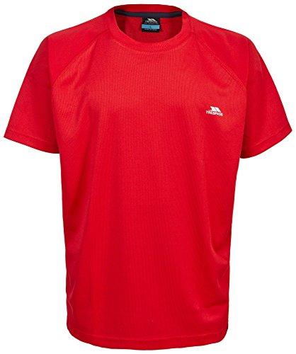 Trespass Debase, Red, XS, Schnelltrocknendes T-Shirt für Kinder / Jugendliche / Jungen 10-17 Jahre, X-Small, Rot