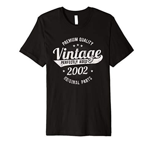 Vintage Est 2002 T-Shirt 17 Jahre Sweet 17. Geburtstag