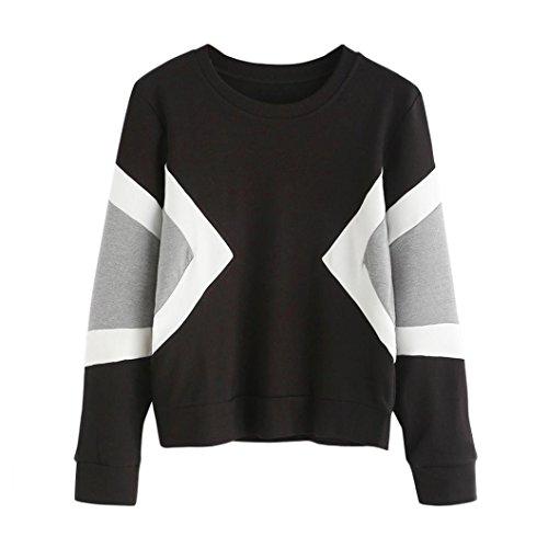 Kapuzenpullover Damen Langarm Plus Size Sweatshirt Lange Ärmel Crop Patchwork Wildleder Pullover Tops Von Xinan (M, (2017 Party Kostüm)