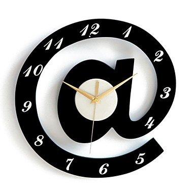alphabet élégant décoratifs horloges murales - blanc + noir (1 x AA)