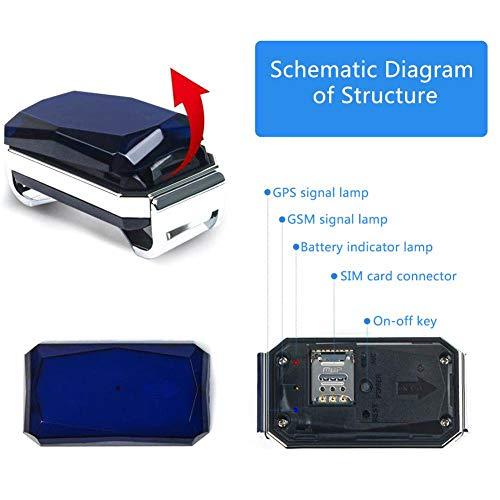 FLOWER205 Perseguidor GPS para perros, IP67 nivel impermeabilizante Localizador GPS para mascotas,...