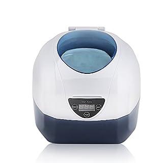 Ultraschallreinigungsgerät 750ml, AGM Ultraschallreiniger mit Uhrenhalter und Reinigungskorb 35W Digital Ultrasonic Cleaner Edelstahl Ultraschallbad für Brillen, Schmuck, Zahnprothese, Rasier