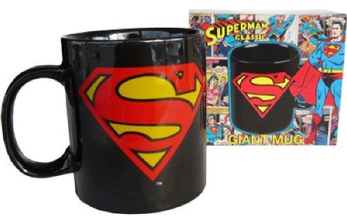 Superman Logo XXL Tasse 750ml in Geschenkbox DC Comics originelles Geschenk (Harley Quinn Batman Arkham Knight Kostüm)