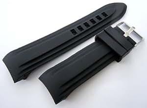 22mm lourds marins silicone Divers en caoutchouc bracelet de montre avec pattes recourbées