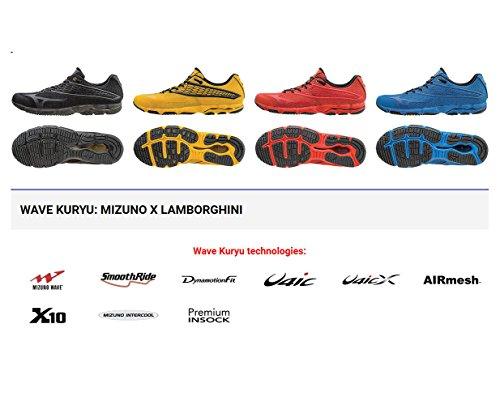 MizunoMizuno Wave Kuryu Lamborghini J1ga166804 Herren Schuhe Blau - tempo libero Uomo Blau (Blau-Schwarz)