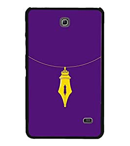Nib Necklace 2D Hard Polycarbonate Designer Back Case Cover for Samsung Galaxy Tab 4 :: Samsung Galaxy Tab 4 T231
