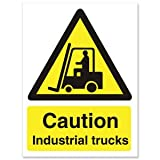 Stewart Superior Caution autocarri industriali-Cartello auto-adesivo in vinile, 150 x 200 mm, rif. WO135SAV