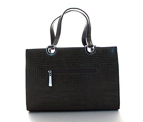 Damen Handtasche, Diese Schultertasche gibt es in den Variationen Camel, Braun, Coffe, Grau, Schwarz, Rot Schwarz