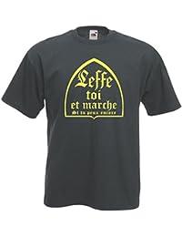 ae885a68c7718 FUNNY SHIRT T-Shirt Anthracite Et Jaune Leffe toi Et Marche si tu Peux  Encore