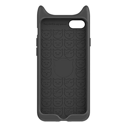 iPhone 7 Hülle, IVSO Silikon Rückseite Schutzhülle für Apple iPhone 7 4.7 Zoll Smartphone, Rot Schwarz