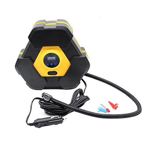 Digitaler Luftkompressor 12V 10A Digitaler Bildschirm Auto Luftpumpe Schnell Air Inflator mit Manometer 150 PSI für Motorrad Fahrrad Basketball