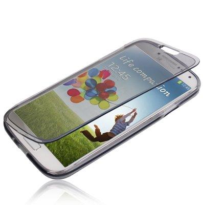 tpu-flip-cover-transparente-colore-grigio-per-samsung-galaxy-s6-edge-linea-trendy-di-aq-mobile