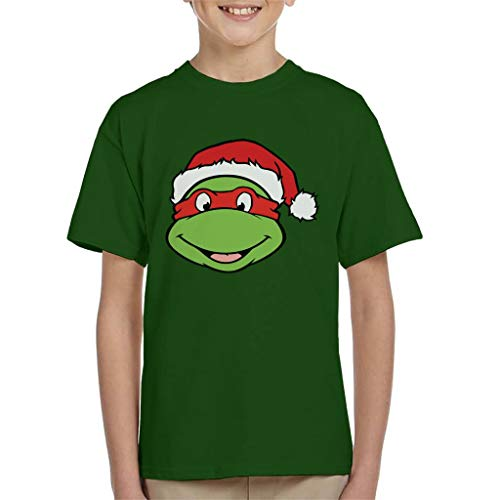 Teenage Mutant Ninja Turtles Raphael Christmas Hat Kid's T-Shirt