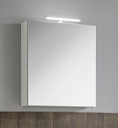 #Spiegelschrank mit LED Aufbauleuchte SAB60 in weiß#