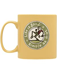 Life is Good Jake 's Golf Tasse (Classic Gold)