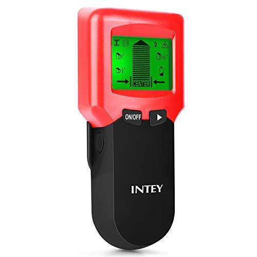 INTEY 3 N1 Detector de Pared, Metal Stud Pinpoint, Madera y AC Cable, Detector de Metales Detector Escáner...