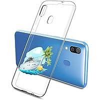 Oihxse Funda Samsung Galaxy A520/A5 2017, Ultra Delgado Transparente TPU Silicona Case Suave Claro Elegante Creativa Patrón Bumper Carcasa Anti-Arañazos Anti-Choque Protección Caso Cover (A6)