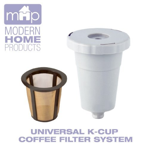 Permanent Universal K-Cup Coffee Filter System Fits All Keurig Single-Serve Coffee Machines