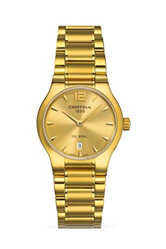 Certina Damen-Armbanduhr XS Analog Quarz Edelstahl C012.209.33.027.00