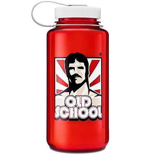 Old School Labs Wasser Flasche-für Sport, Fitness, Workout, Nalgene 907-Langlebig, auslaufsicher, BPA Frei, fleckenresistent und geruchsresistent-Old School Rot