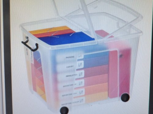 Cep Kunststoffboxen mit Rollen 60,0 x 48,5 x 41,5 cm (BxTxH) transparent 75 Liter