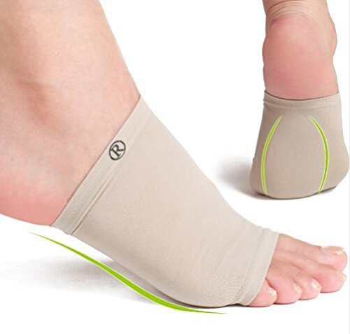 JERN Foot Care Plantar Fasciitis Gel Silicone Arch Support Sleeve(Size M)