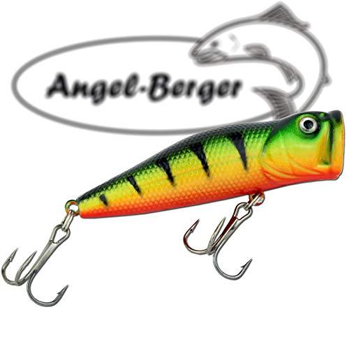 Angel-Berger Popper Oberflächenköder 3D Wobbler -