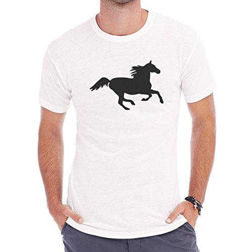 Horse Animal Pony Stud Free Herren T-Shirt Weiß