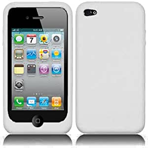 White XYLO SuperTuff Soft Silicone Skin / Case / Cover for the Apple iPhone 4 / 4G / 4S Mobile Phone.