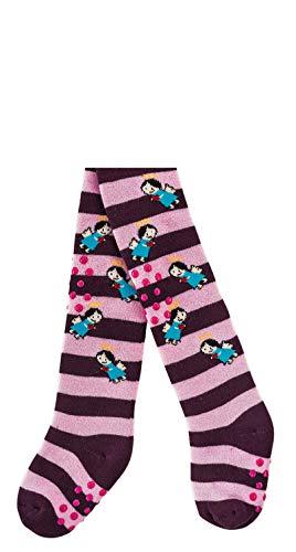 Socks PUR KRAPPEL- Strumpfhose Baby & Kleinkinder 1 STÜCK (62-68, Schutzengelchen: Pflaume-lila) - 63 Pflaume