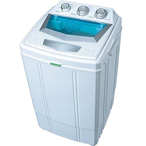 Syntrox Germany Machine à laver avec essoreuse, petit format, pour camping Classe énergétique A 4kg