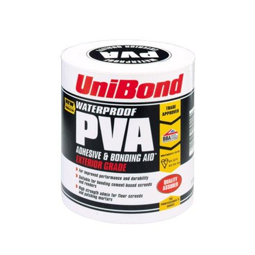 UniBond Wasserfester PVA-Kleber und Bindemittel, für außen, 1Liter Dose