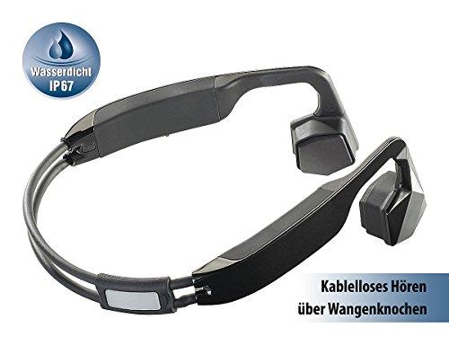 auvisio Wasserdichtes Headset BC-40.sh mit Bluetooth 4.0, Bone Conduction - 2